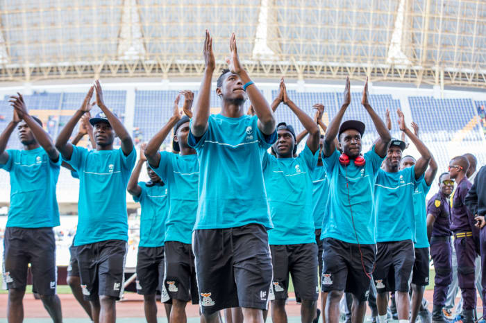 FNB Zambia celebrates as the Under-20 National squad wins Team of the Year Award