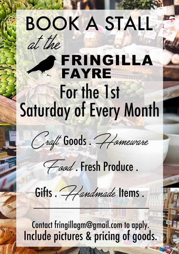 Book a stall at the Fringilla Fayre