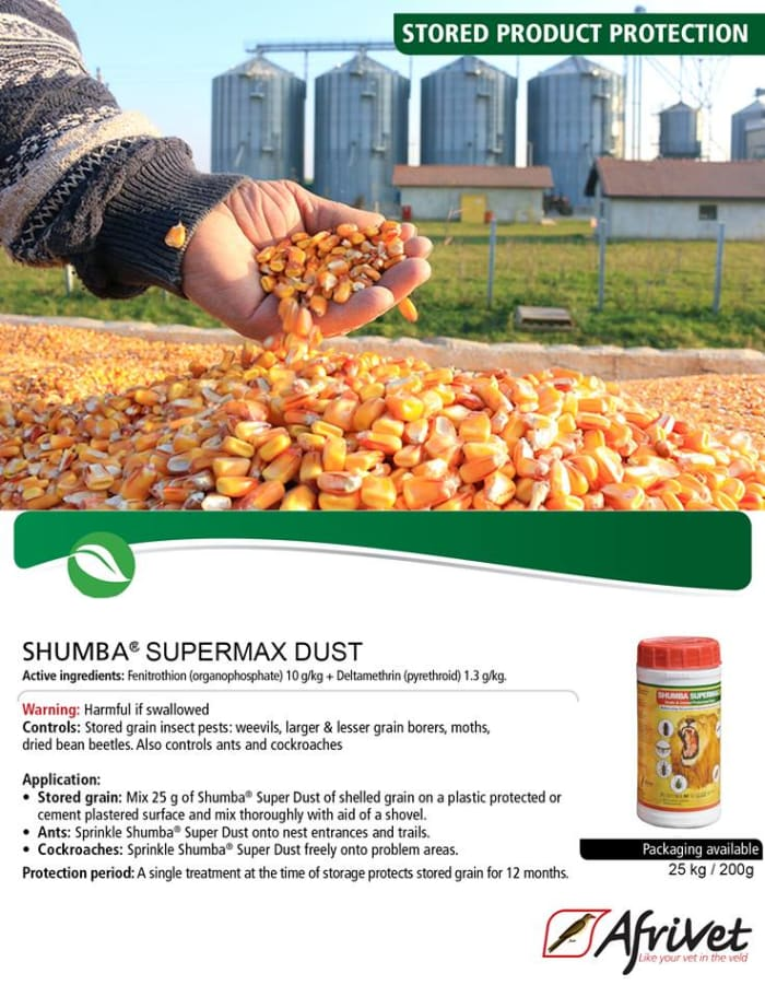 Grain and cereal protectant dust available in stock