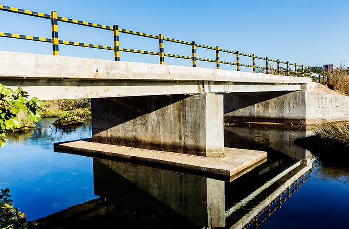 Construction of Mwamba Bridge a 30-metre span composite bridge across Lukupa River
