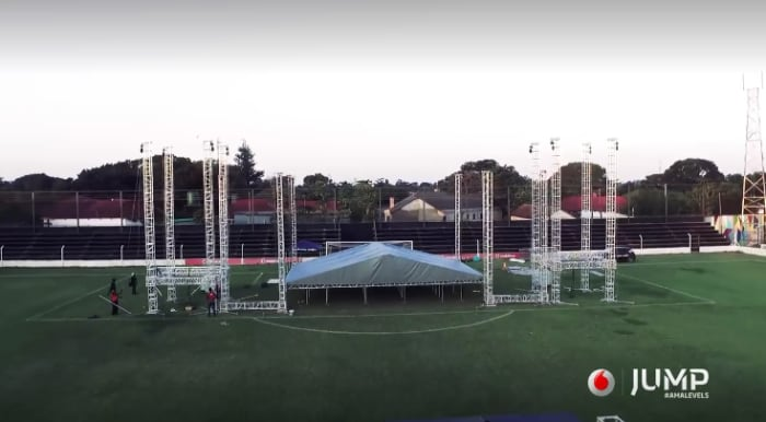 Preparations begin for Vodafone's 'All Out' show