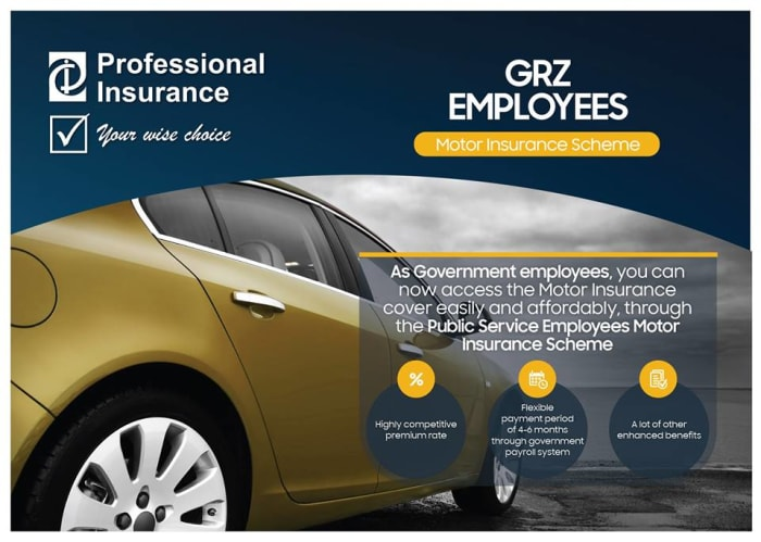 Motor insurance for public service workers