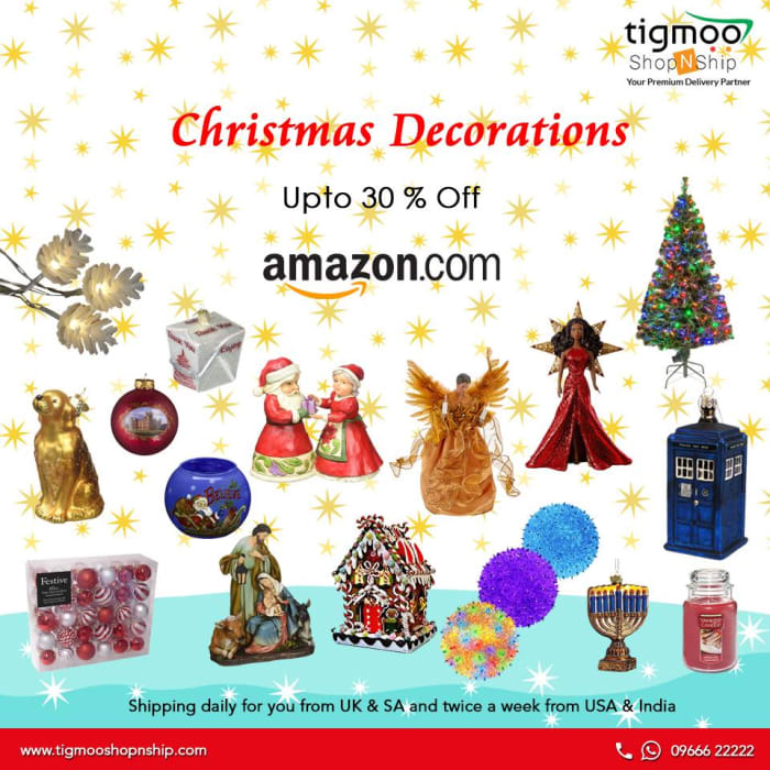 30% off Amazon christmas decorations at tigmoo