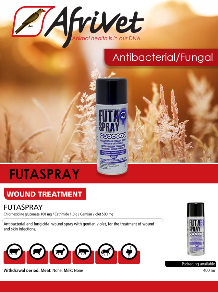 Futa Spray for animal wounds available in stock
