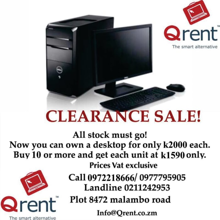 Desktop computers clearance sale
