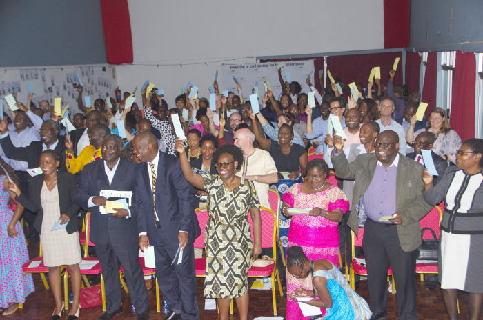 Barefeet performs at Zambian Governance Foundation event