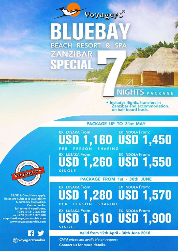 Zanzibar 7 nights package