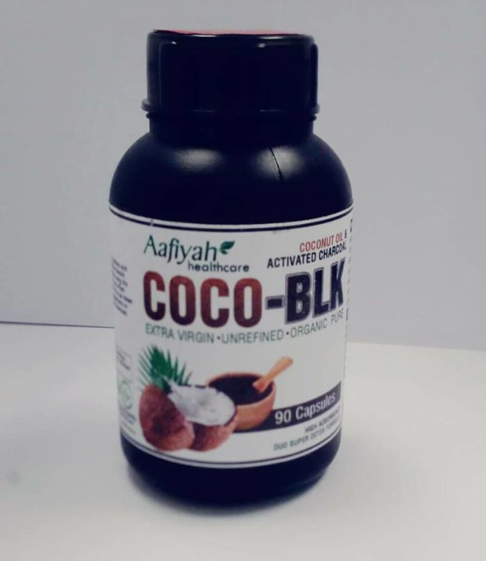 Coconut oil and activated charcoal capsules new in stock