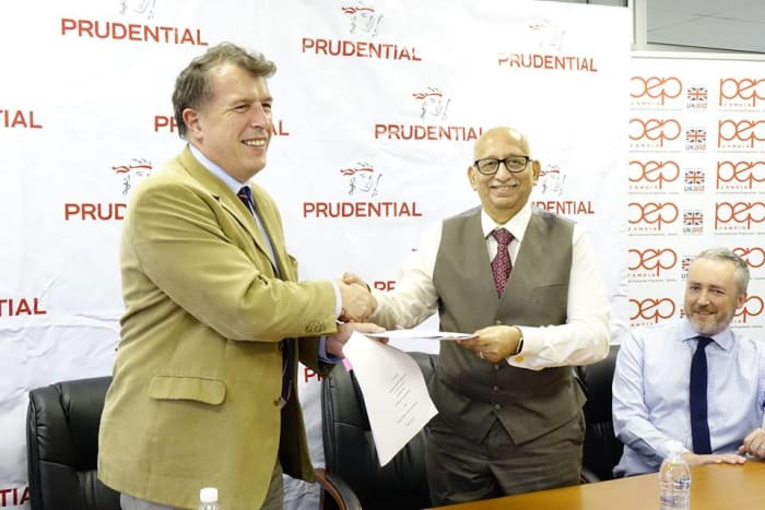 PEP Zambia and Prudential sign cooperation agreement to benefit SMEs