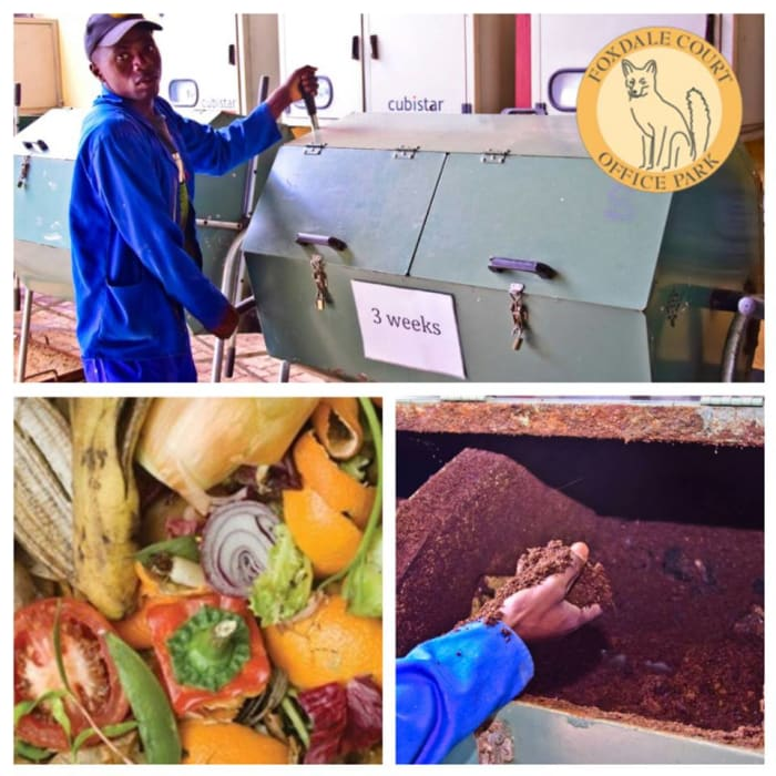 Foxdale Court turns food waste into compost