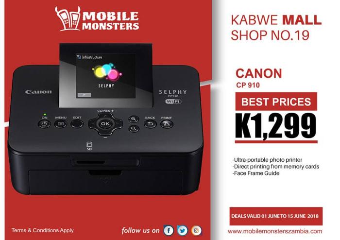 Canon photo printer available
