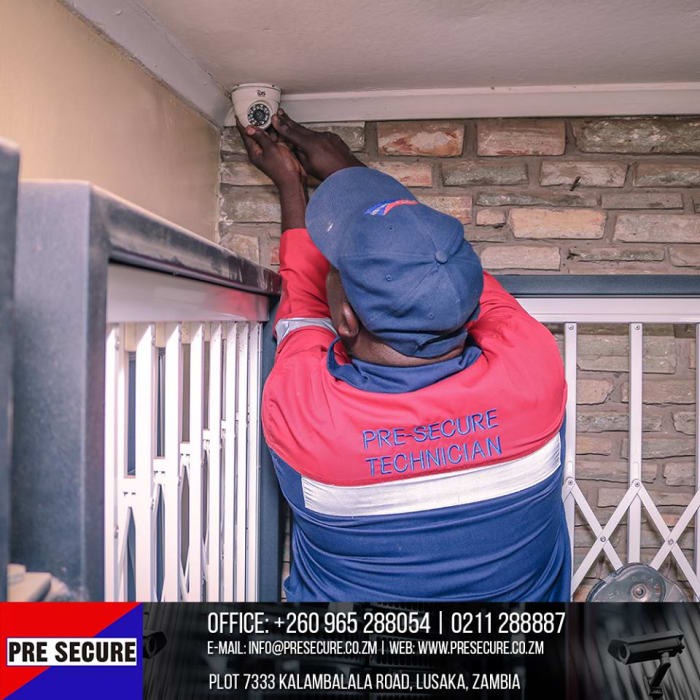 Full alarm systems and motion sensors available