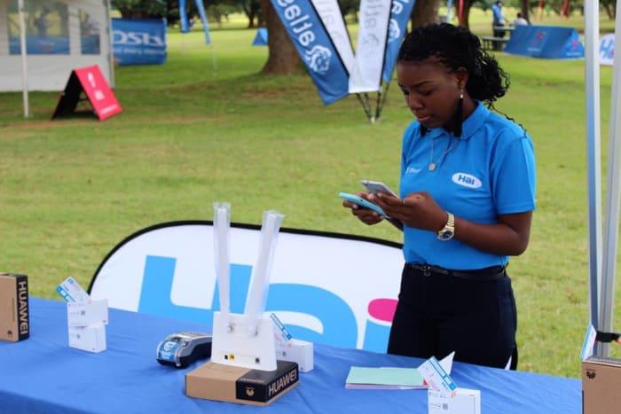 Hai Zambia display at the ZANACO Master Golf Open