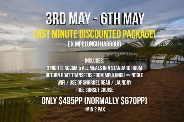Lake Tanganyika last minute discounted package