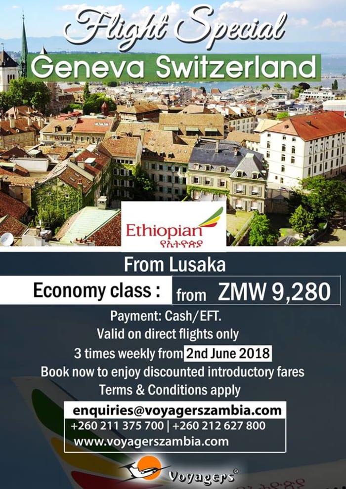 Switzerland flight special with Ethiopian Airlines