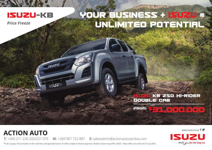 Low price freeze on Isuzu KB double cab