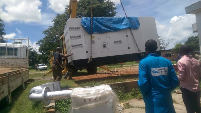 Davis and Shirtliff sucessfully installs generator at Kitwe Teaching Hospital