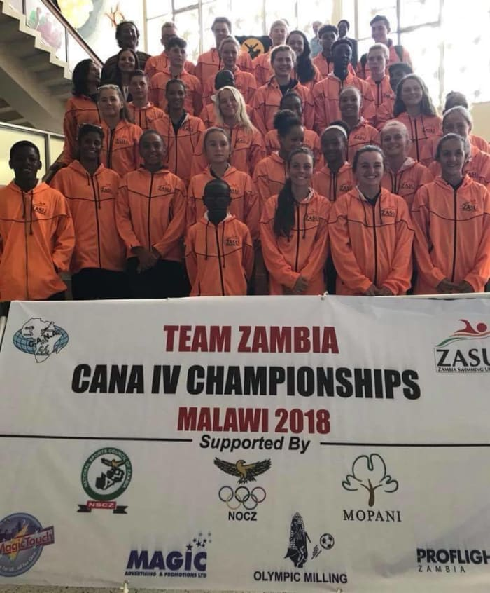 Students represent Zambia at International Swimming Gala