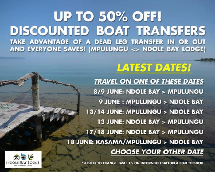 50% off boat transfers