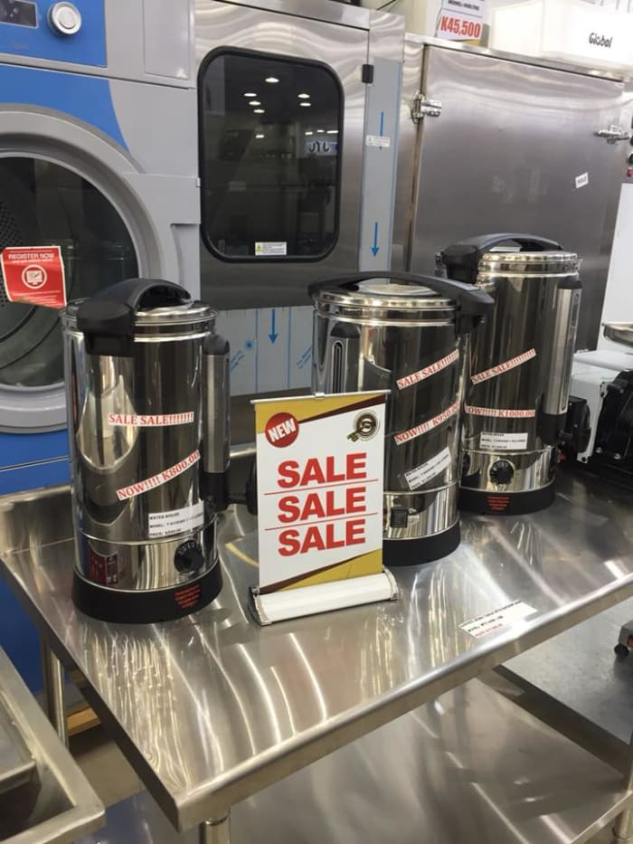 Sale on water boilers and pizza ovens