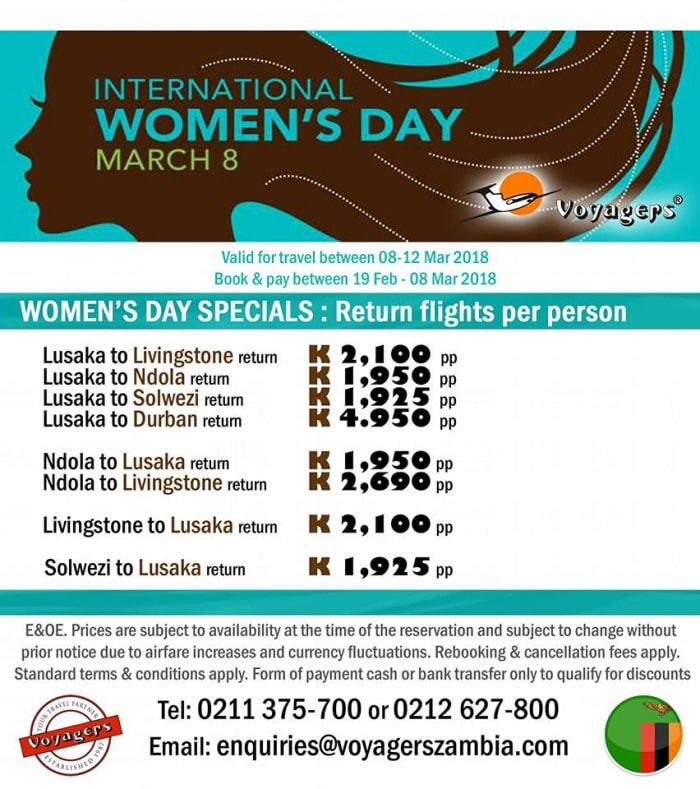 Women's and Youth Day flight discounts