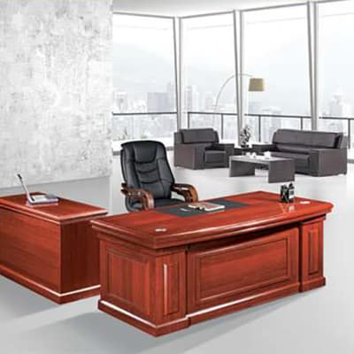 1.6 Metre Solid Wood Executive Desk - Mahogany image