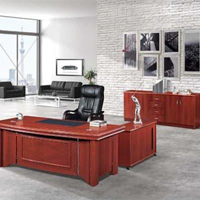 1.8 Metre Solid Wood Executive Desk - Mahogany image
