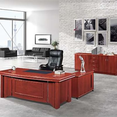 1.8 Metre Solid Wood Executive Desk - Mahogany image