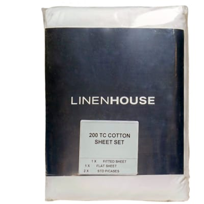 100% Cotton Bed Sheet Set  Hospitality Grade 200 Thread Count  image