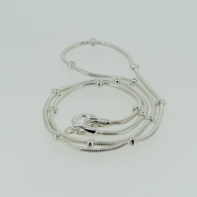 Silver link segmented necklace image