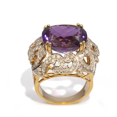 Fancy Ring  Amethyst  Yellow Gold image