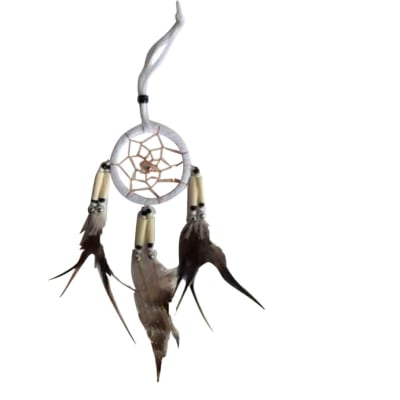 6cm White Dreamcatcher  image