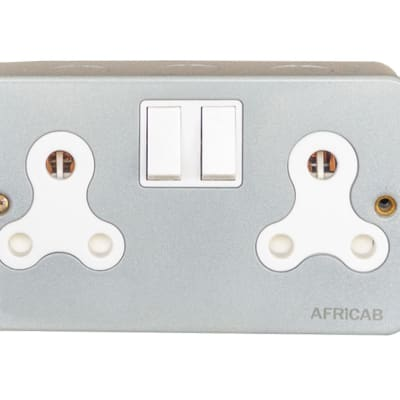 Africab Double D type Sockets with switches  image
