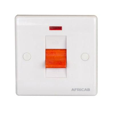 Africab Plain White Stove Switch with Indicator image