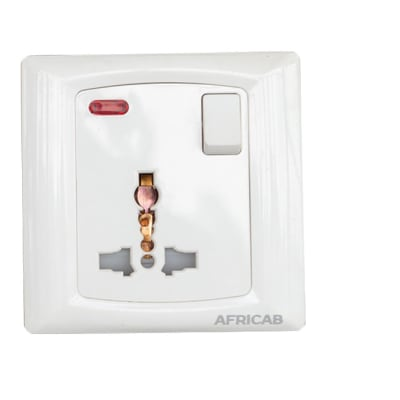 Africab Universal Socket with Switch and Indicator image