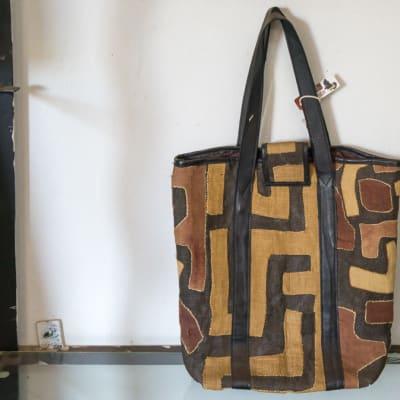 Shoulder Bag Kubu Cloth  Brown Print Handbag image