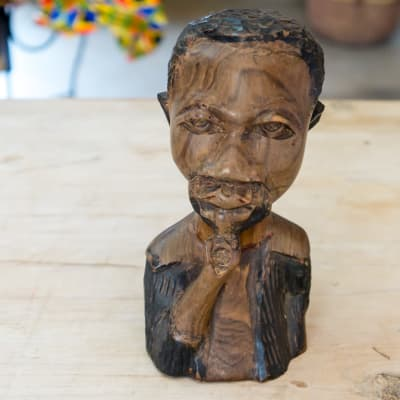 Wooden  Carving  Head and Chest of an Old Man image
