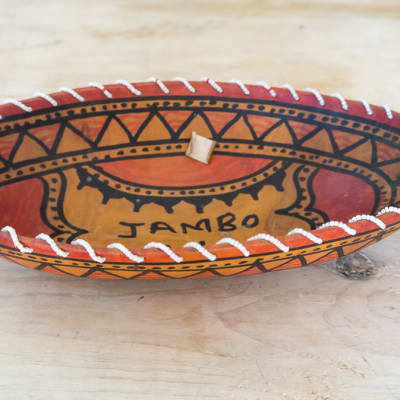 African Wooden Traditional Fruit Bowl 2 image