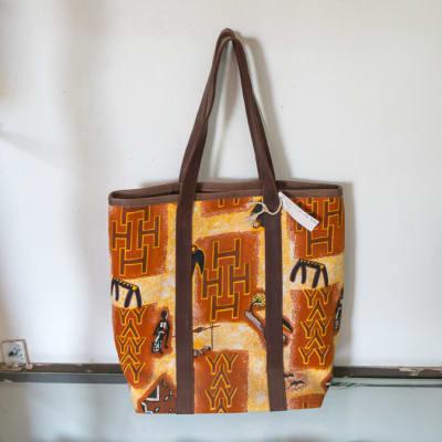 Orange Print Handbag image