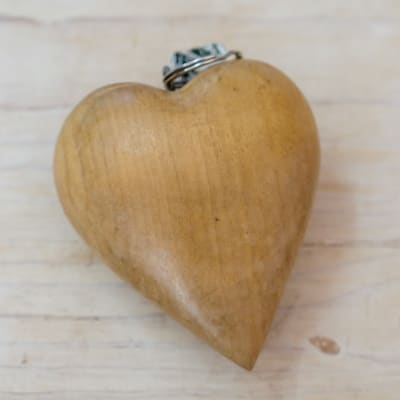 Wooden Heart Key Ring image