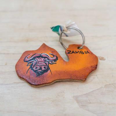 Zambia Wooden Key Ring image