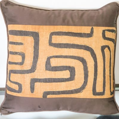 Brown and Beige Cushion image