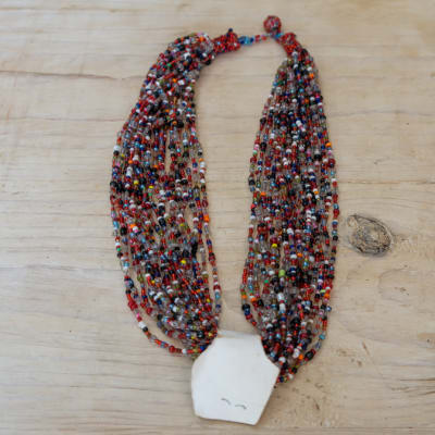 Beaded Assorted Colour  Multi Strand Necklace image
