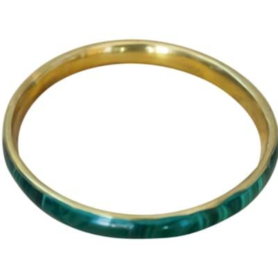 Bangle Malachite Green  Bronze Bangle Bracelet image