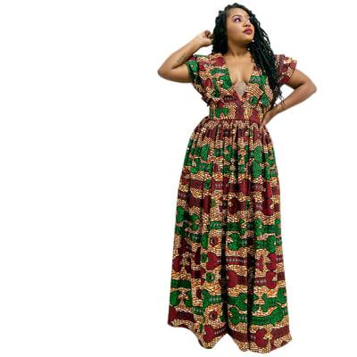 Long dress - African Print Maxi dress image