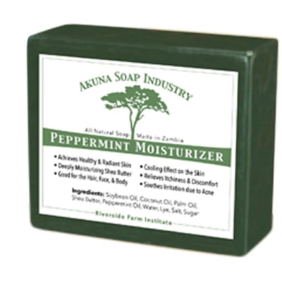 Peppermint Moisturising Soap   All Natural Peppermint Oil image