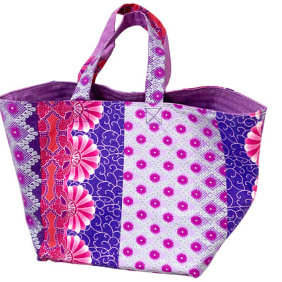 Ankara shopping bag - Pink & purple image