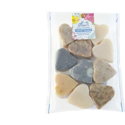 Bag of Soaps Artisan Cosmetics Heart Soap  image