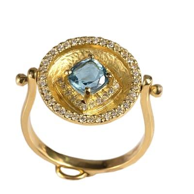 Calabash Aquamarine & Diamonds  Ring  image