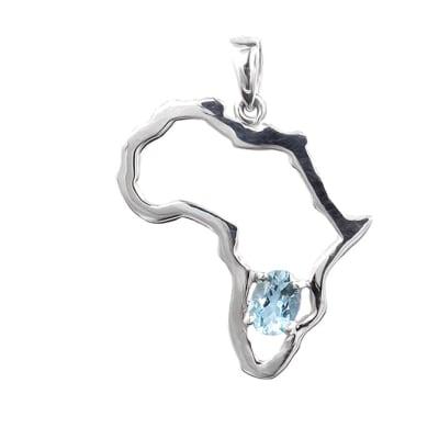 Silver Africa  Aquamarine  Pendant image